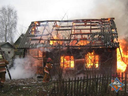 Крупный пожар в Полоцке