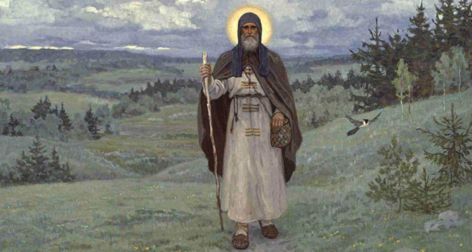 Преподобный Сергий в наших душах отражается