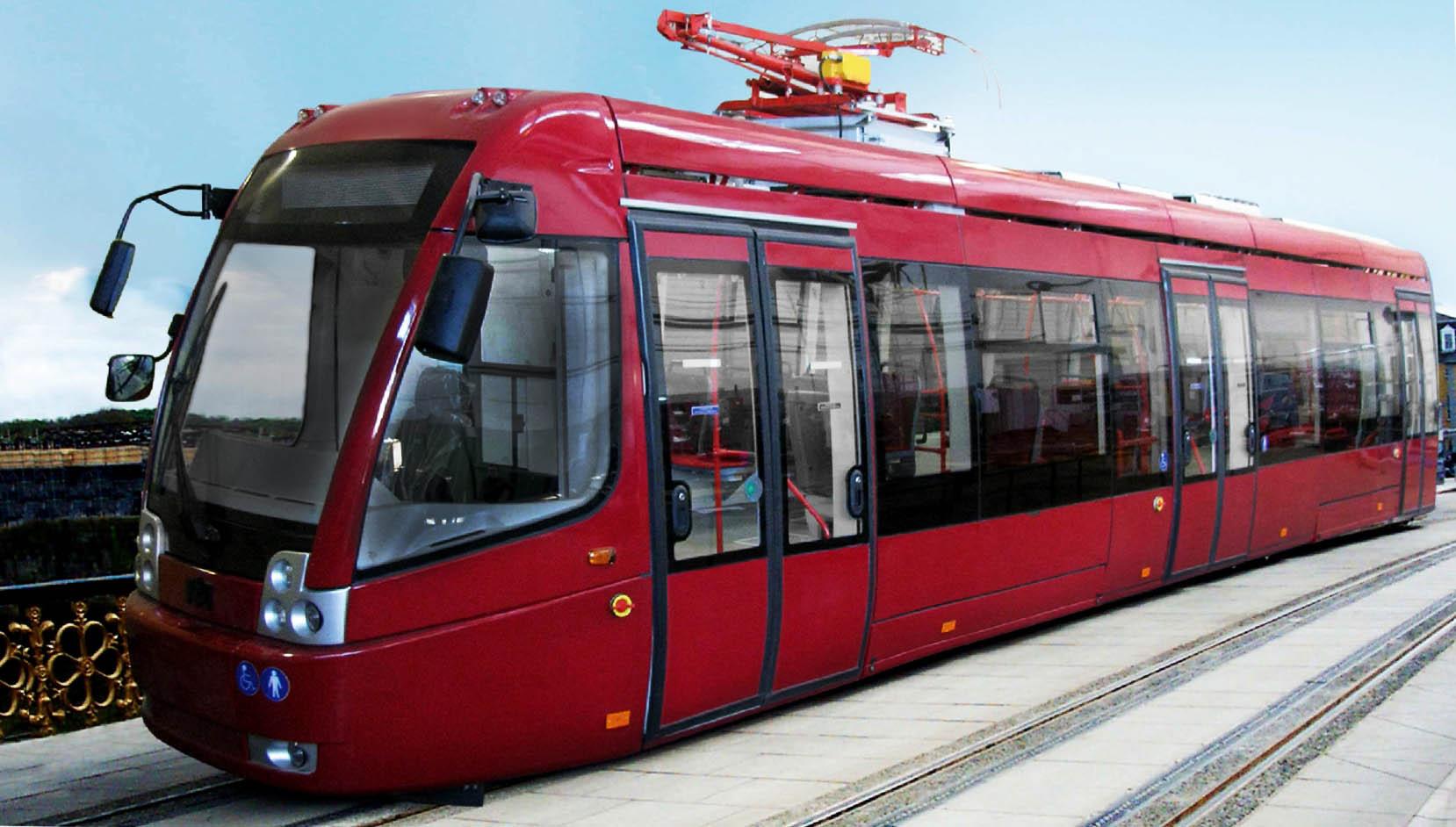 Новый трамвай курсирует по Новополоцку