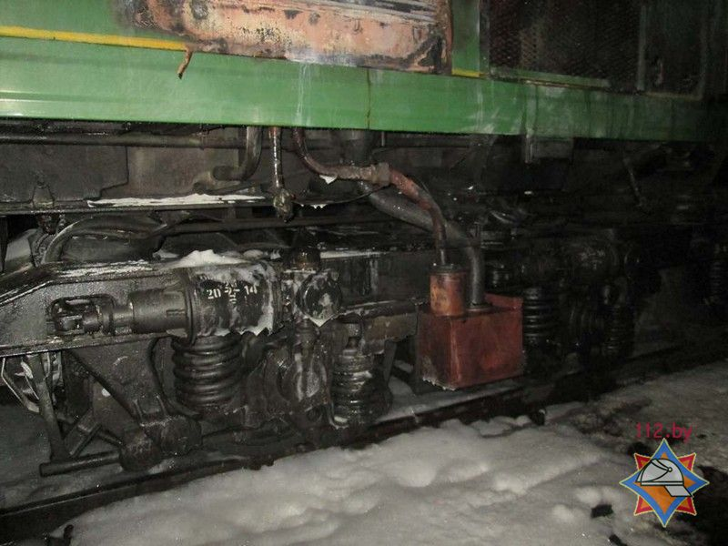 Пожар на поезде, следовавшего из Витебска в Полоцк
