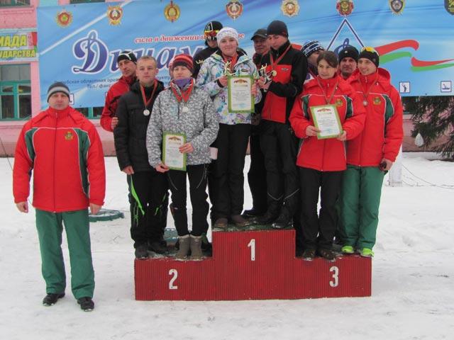 Полоцкие пограничники - лидеры в лыжной гонке