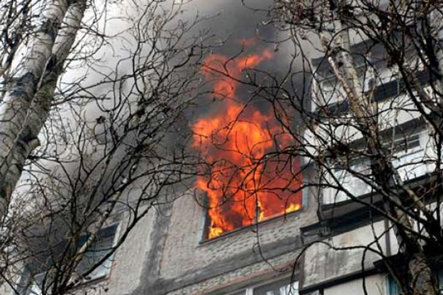 В Новополоцке на пожарах спасено два человека