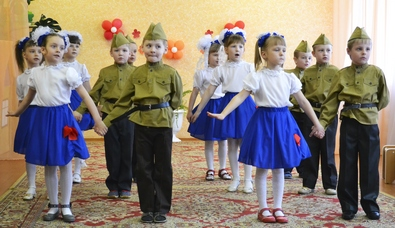 Воспитанники детского сада №1 провели праздник посвященный 70-летию Победы