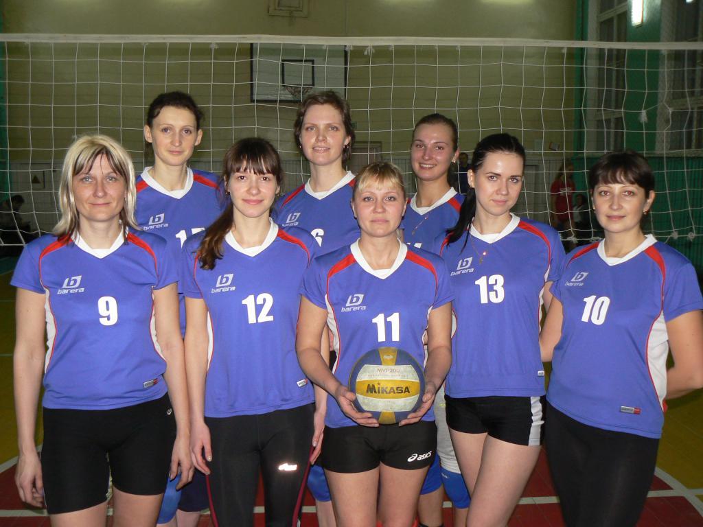 Волейбольная команда «Полоцкгаз» победитель районного чемпионата