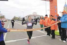 Марина Доманцевич победительница Полесского легкоатлетического кросса
