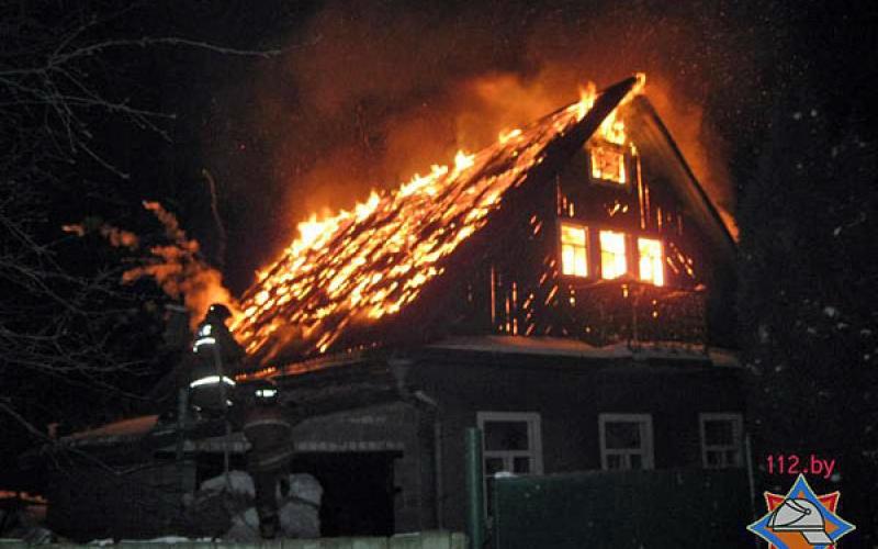 В Полоцком районе пожар унес жизнь старушки
