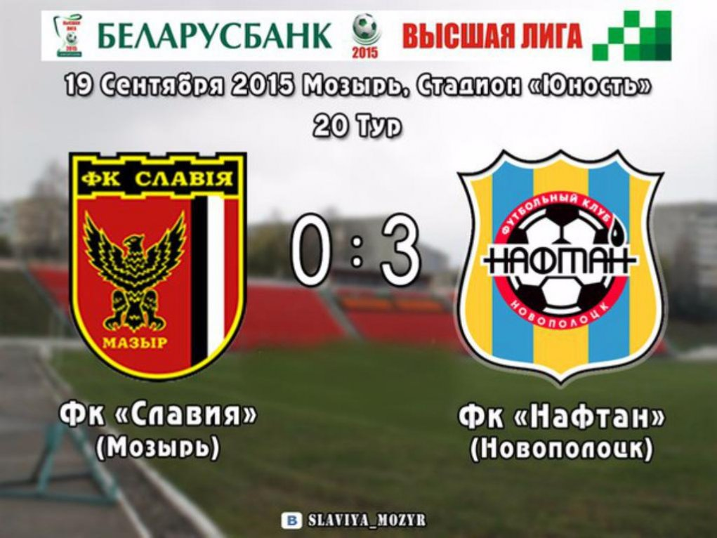 Победа «Нафтана» над «Славией» счет 3:0