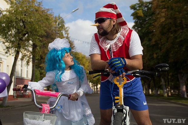 В минувшие выходные в Полоцке состоялся конкурс креативных велосипедистов