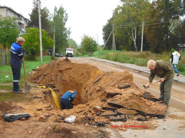Стена Борисоглебского монастыря найдена газопроводчиками в Полоцке