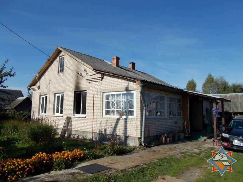 В Полоцком районе при пожаре сгорел хозяин дома