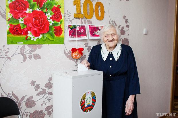 100-летняя полочанка проголосовала на Выборах Президента