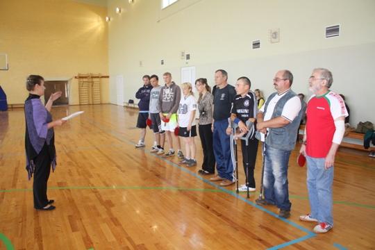 В Полоцке состоялись соревнования по настольному теннису среди инвалидов