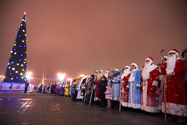 Ровно через неделю Полотчина окунется в новогодние праздники