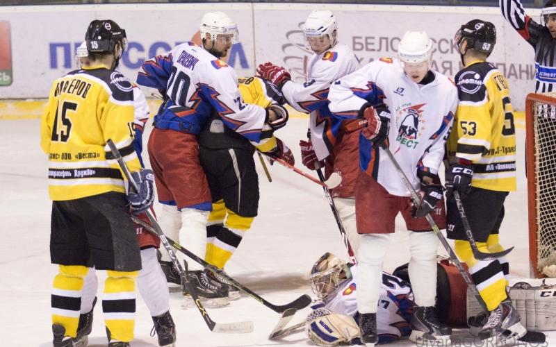 Хоккеисты «Химик СКА» со счетом 2:3 проиграли команде «Бреста»