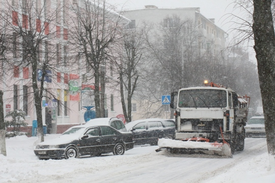 В Полоцке устранили последствия снежного циклона