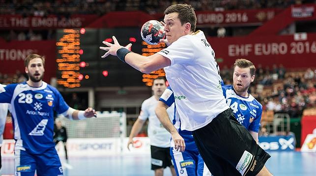 У белорусских гандболистов первая победа европейского чемпионата