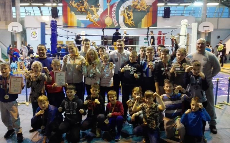 У юных новополочан первое место чемпионата Беларуси по таиландскому боксу