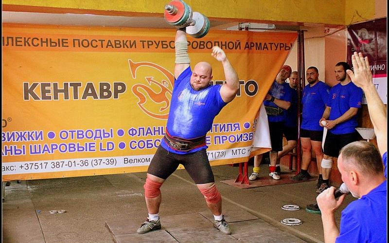 Соревнования силачей прошли в Новополоцке