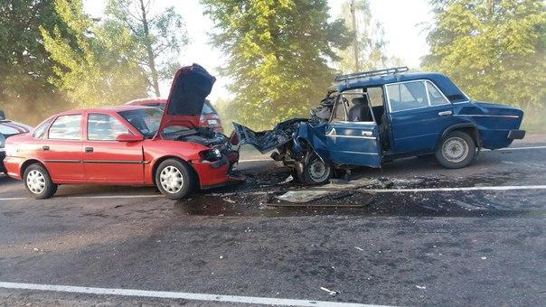 На территории Полоцкого района Опель протаранил Жигули, водитель ВАЗа погиб