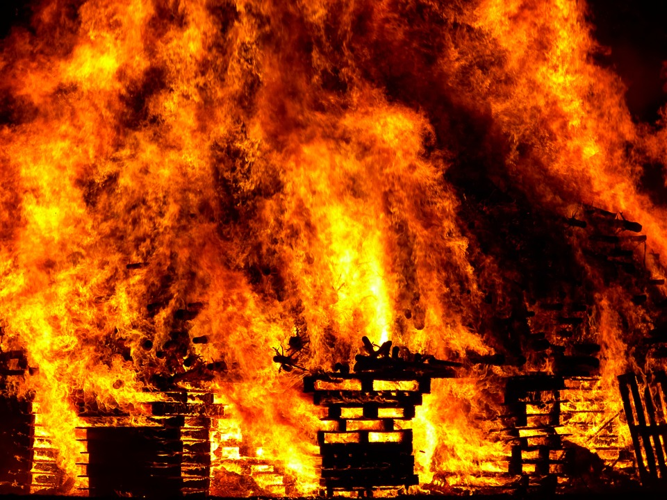 Вечером 08 июня в Полоцке горел частный дом