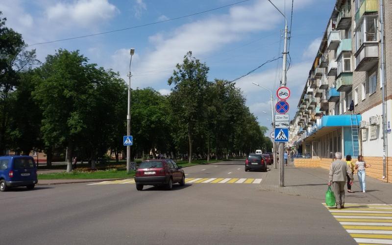 В Полоцке установили знаки запрещающие движение мотоциклистов по главному городскому проспекту