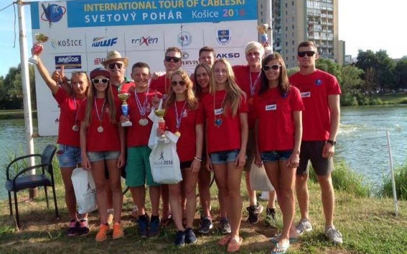 Новополоцкие воднолыжники привезли тринадцать медалей из словацкой Кошицы