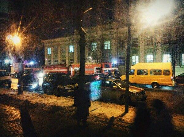 В первый день зимы в Полоцке горела центральная библиотека