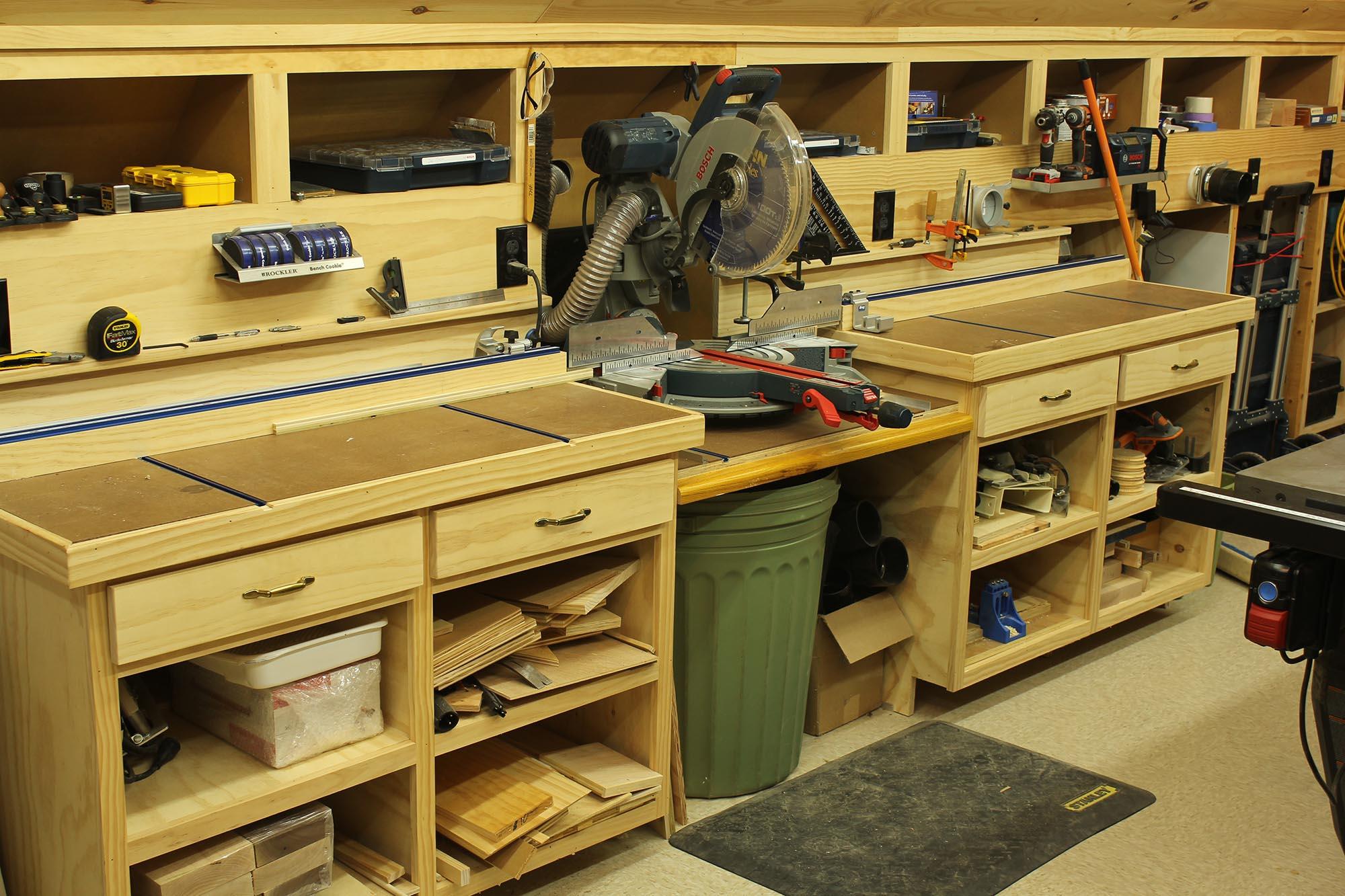 Рабочий стол в мастерскую своими руками 8