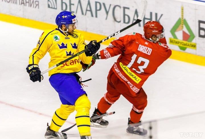 Сборная Беларуси по хоккею проиграла Швеции и в повторном матче Евровызова в Гродно