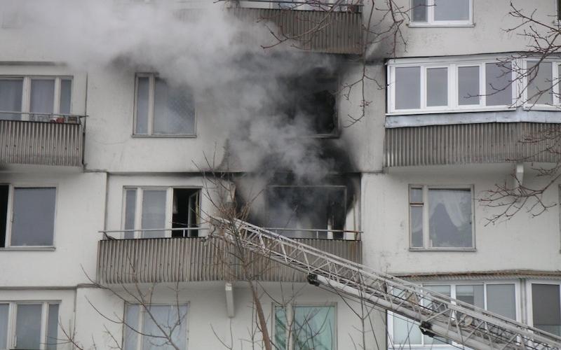 В пожаре полочане самостоятельно спасли своего соседа