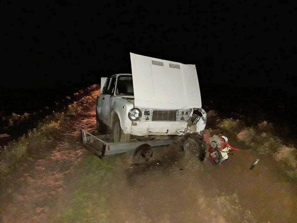 В Полоцком районе под колесами «Жигулей» погиб 51-летний водитель мотоблока